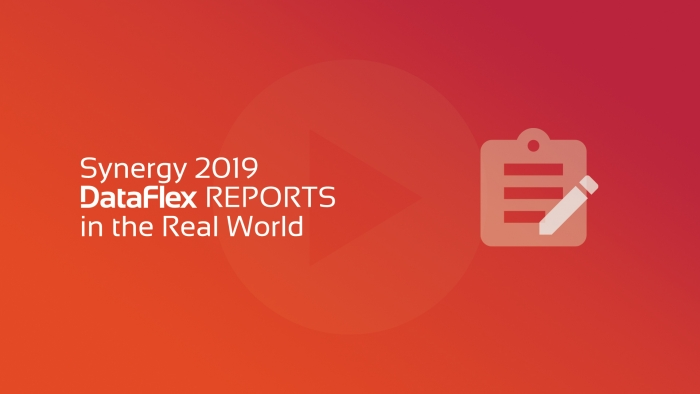 2019-05-14 SYNERGY 2019 DR in the Real World OG