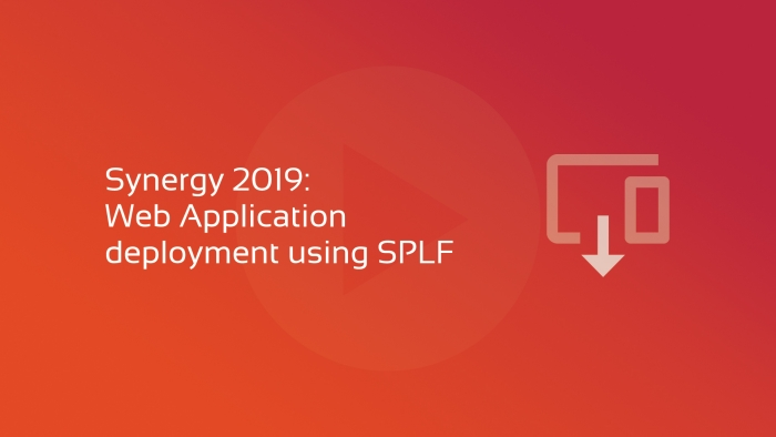 2019-06-04 SYNERGY 2019 Web App Deployment using SPLF OG