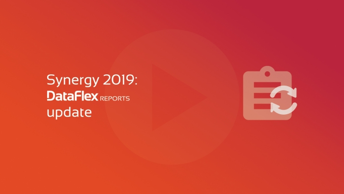 2019-06-04 SYNERGY DataFlex Reports update OG