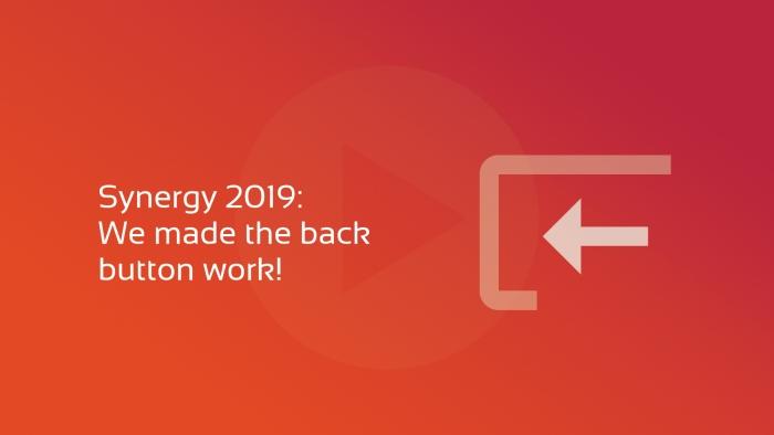 2019-07-01 Synergy we made the back button work OG