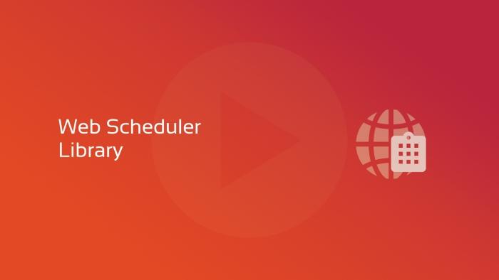2019-09-20 DFLC DataFlex Extensions- Web Scheduler Library OG