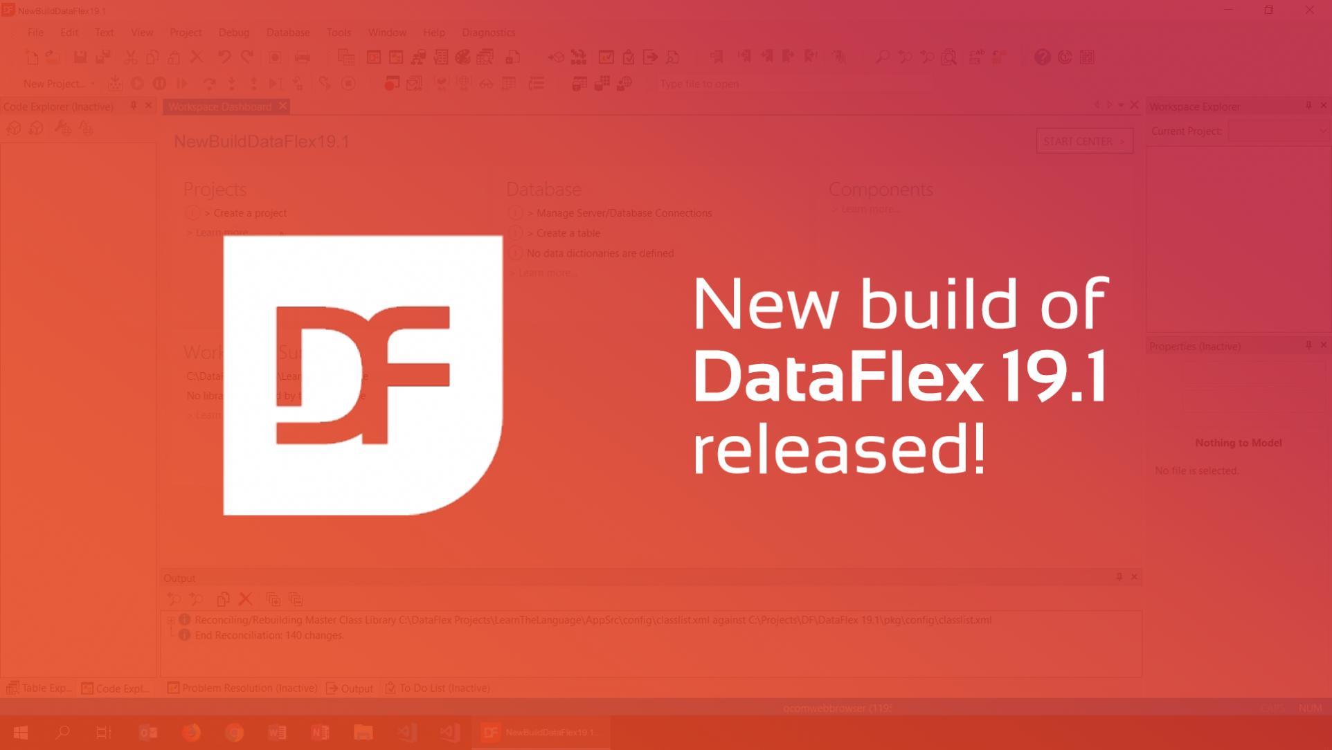 2019-10-25 DataFlex 19.1 New Build