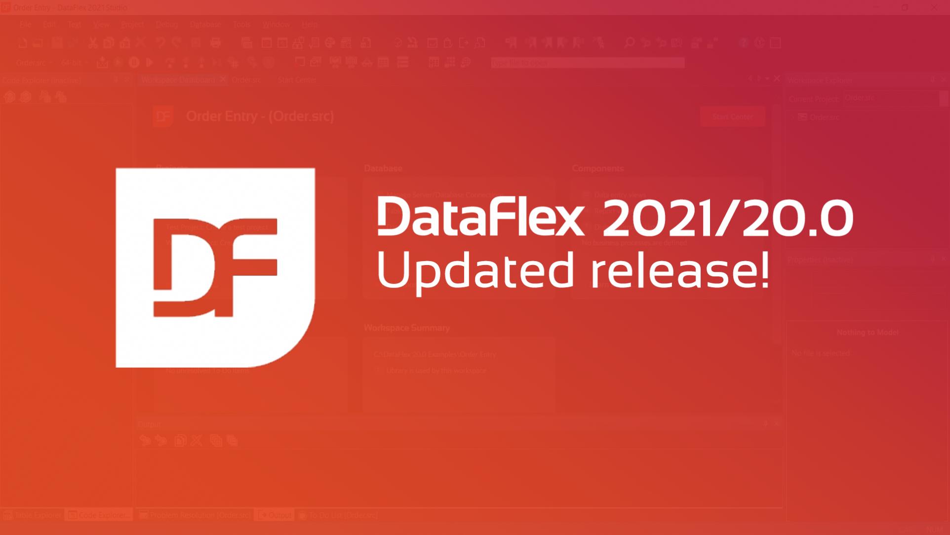 2021-04-19 DataFlex 2021 Update release