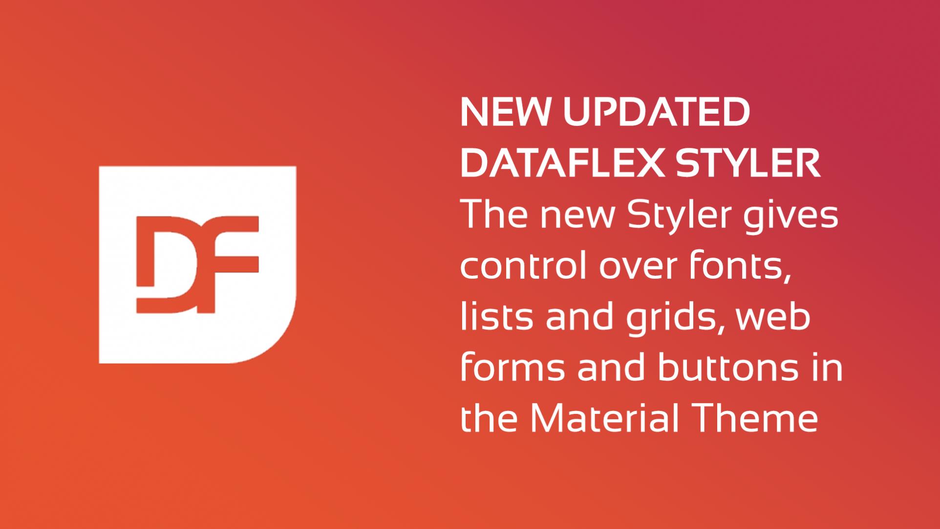 2021-05-25 DataFlex Styler